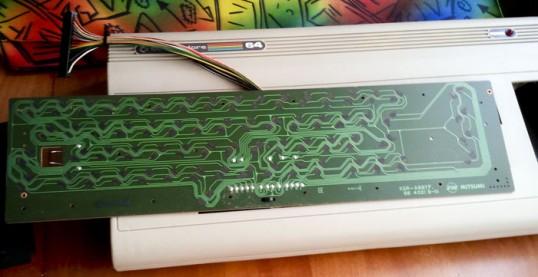 La placa del teclado