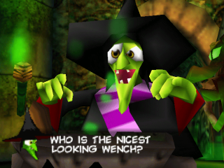 La bruja Gruntilda es uno de los antagonistas mas originales de la historia de los videojuegos.