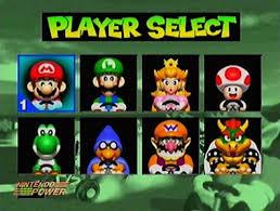 En esta imagen de una fase Beta de Mk64 vemos que en lugar de Donkey Kong estaba Kamek.