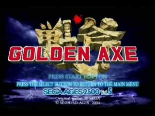 golden axe ps2